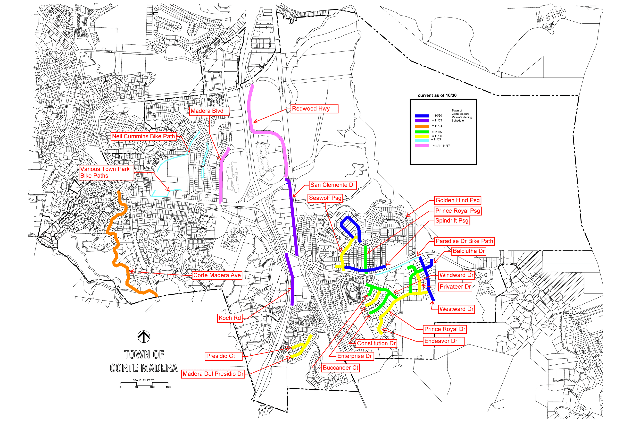 Base Map of Roads Schedule